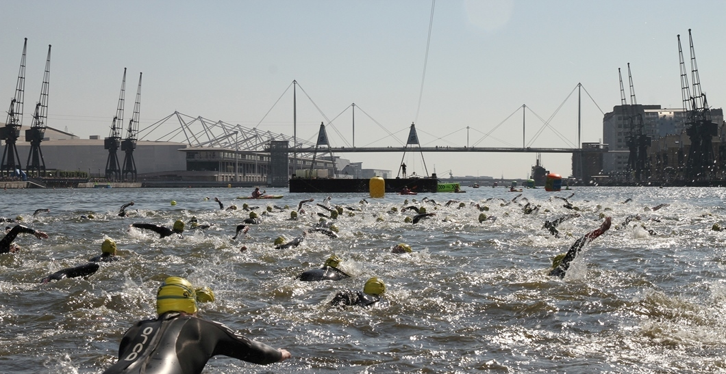 Open water swimming at the Royal Docks