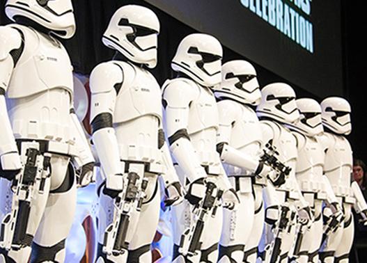 Star Wars celebration at ExCeL