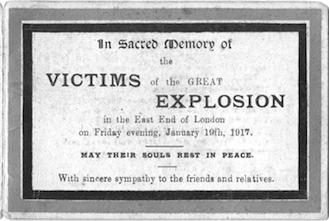 Centenary events marking the 1917 Silvertown Explosion